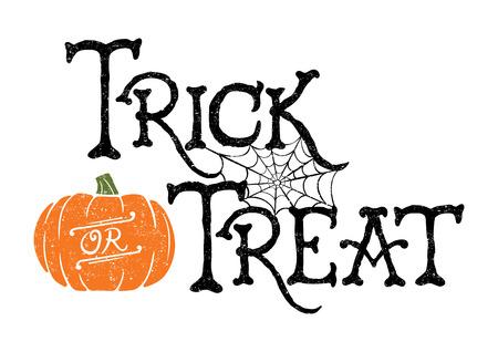 calabazas de halloween: Truco o de calabaza Vectores