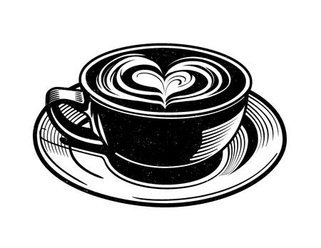 tazza di te: Vector Latte. illustrazione vettoriale di un Chai Latte ... o potrebbe essere qualche altra bevanda calda.