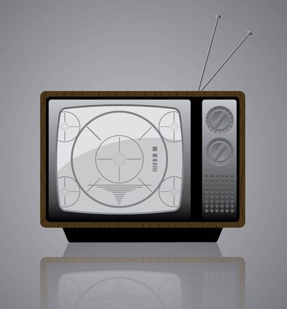 Old TV Icon - Vector illustration icon of a retro styled television set.