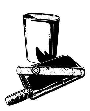 Cigar and Cigar Holder Иллюстрация