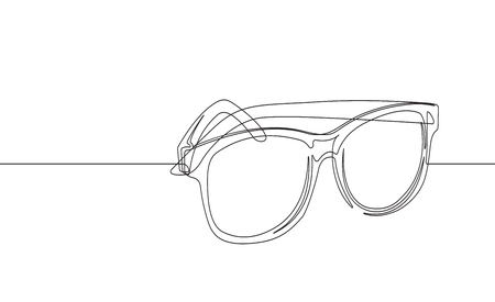 Sunglasses Continuous Line Vector Graphic Foto de archivo - 122787298