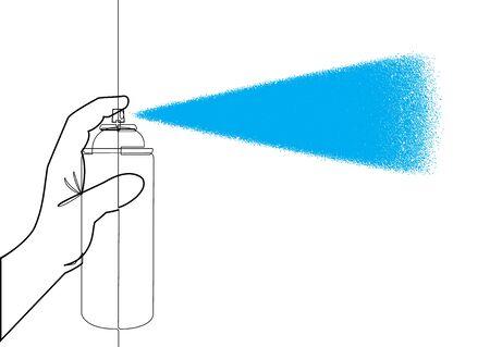 Aerosol Can Single Line Vector Graphic Illustration Ilustracja