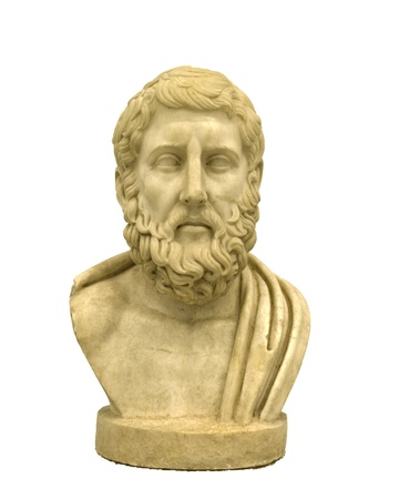 epicurean: Marble portrait of Greek philosopher Hermarchus Stock Photo