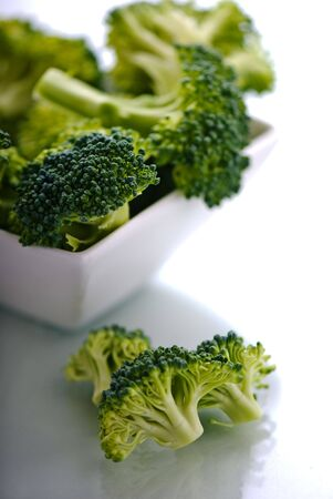 A bowl full of broccoli. Stock Photo
