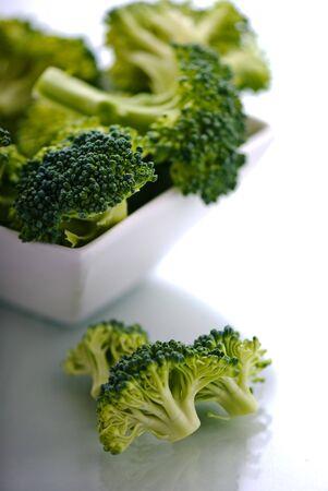 A bowl full of broccoli. Stock Photo