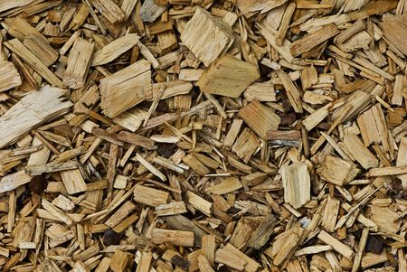 A picture of wood chips for a background or texture etc. Stock Photo