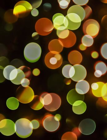 Pattern of blurred or out of focus decoration lights