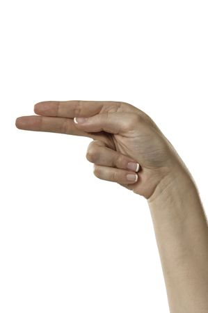 Finger Spelling the Alphabet in American Sign Language (ASL) Stock Photo - 6695667