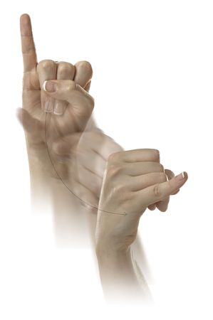 Finger Spelling the Alphabet in American Sign Language (ASL) Stock Photo - 6695631