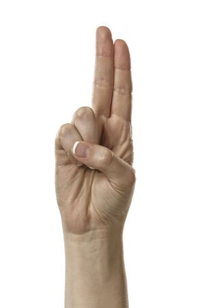 Finger Spelling the Alphabet in American Sign Language (ASL) Stock Photo - 6695636