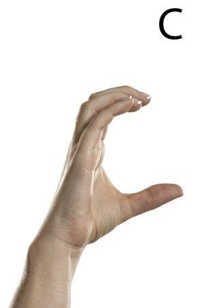 asl: Finger Spelling the Alphabet  Letter C  in American Sign Language  ASL