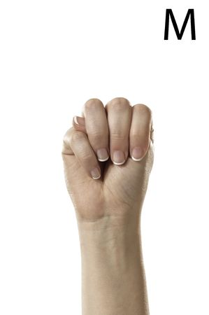 Finger Spelling the Alphabet  Letter M  in American Sign Language  ASL  photo