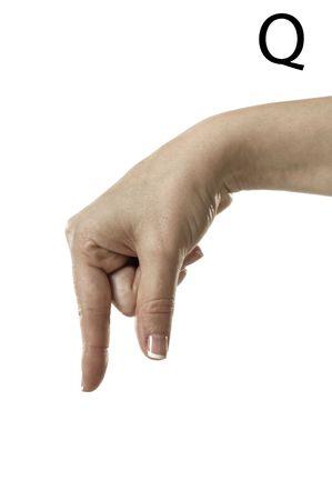 asl: Finger Spelling the Alphabet  Letter Q  in American Sign Language  ASL