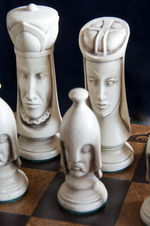 Beautiful chess pieces on a chess board Stock Photo - 7070016
