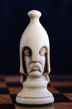 Beautiful chess pieces on a chess board