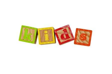 Childrens Alphabet Blocks spelling the word Kids Stock Photo - 7280077