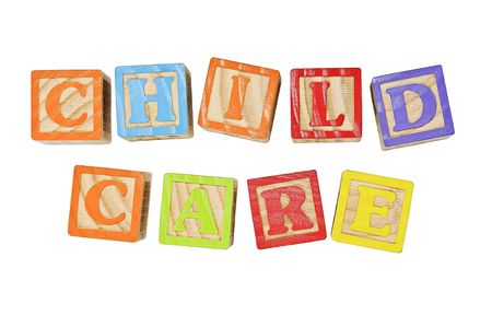 Childrens Alphabet Blocks Rechtschreibung die Wörtern Child Care