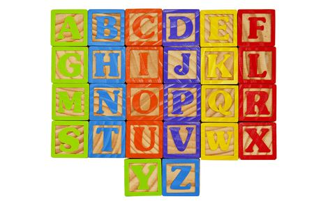 Childrens Alphabet Blocks of the whole alphabet in Capital Letters