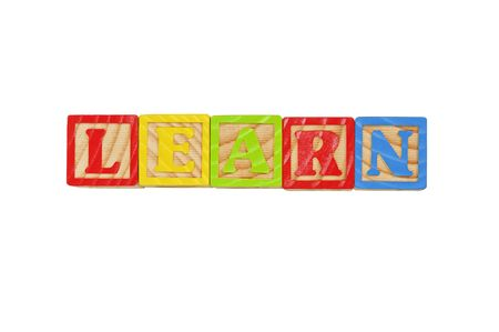 Childrens Alphabet Blocks spelling the word Learn Stock Photo - 7280074