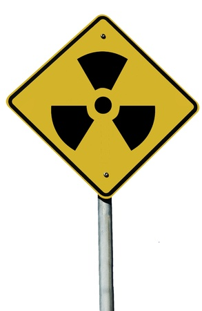 A radioactive sign isolated on a plain white background. Stock Photo - 9138255