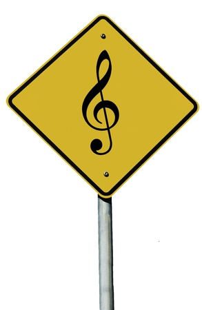 A music sign isolated on a plain white background.