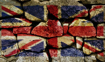 The Union Jack painted on to a stone wall. Stock Photo - 9257658