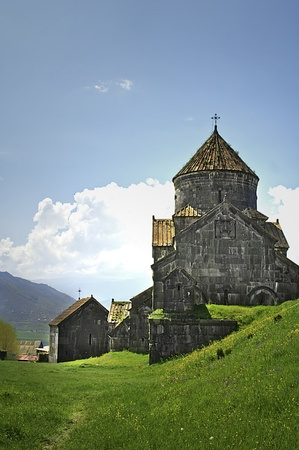 Ancient Christian Monastery  Church in Armenia - Haghpat Monastery Stock Photo