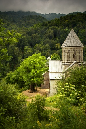 Ancient Christian Monastery  Church in Armenia - Haghatsin Monastery Stock Photo