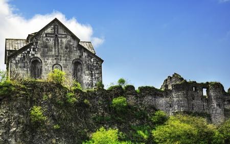 Ancient Christian Monastery  Church in Armenia - Akhtala Monastery Stock Photo