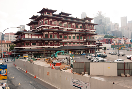 relic: Buddha Tooth Relic Temple and Museum at Chinatown, Singapore. Editorial