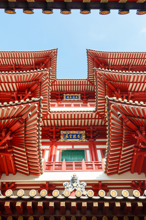 singapore: Buddha Tooth Relic Temple and Museum at Chinatown, Singapore. Editorial