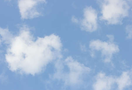 nice day: White clouds with blue  sky. Stock Photo