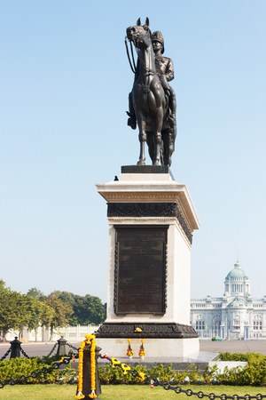 superpowers: The equestrian statue of King Chulalongkorn Rama V in Bangkok, Thailand.