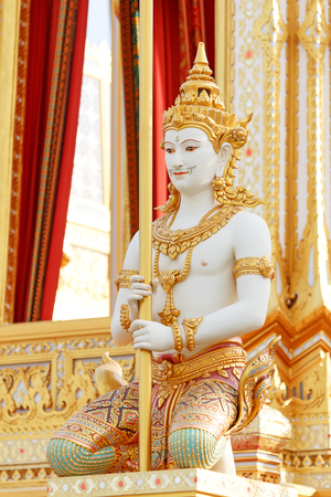 Beautiful angel statue on The royal crematorium of His Majesty King Bhumibol Adulyadej in Bangkok.