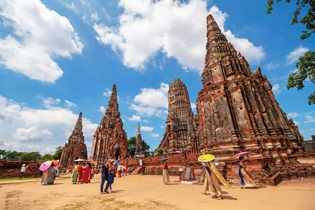 Ayutthaya, Thailand - May 06, 2018: Wat Chaiwatthanaram temple, Historical Park Redakční