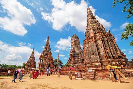 Ayutthaya, Thailand - May 06, 2018: Wat Chaiwatthanaram temple, Historical Park .