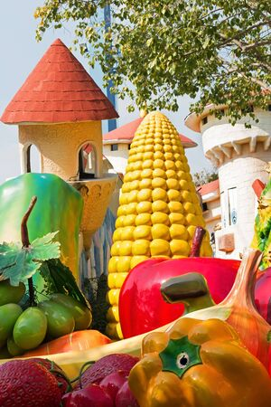 Pathumthani, THAILAND - December 11, 2017 : Beautiful fruit land in Dream world, amusement park in Thailand.