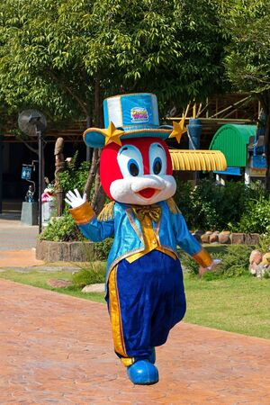 Pathumthani, THAILAND - December 11, 2017 : A mascot show in Dream world, amusement park in Thailand. Redakční