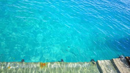 Cement bridge,  platform in the sea. Reklamní fotografie