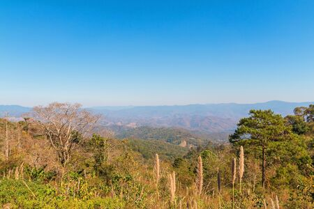Beautiful nature viewpoint with mountain at Kiew Lom, Mae Hong Son, Thailand