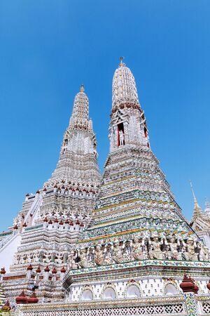 Wat Arun Buddhist temple in Bangkok Thailand.