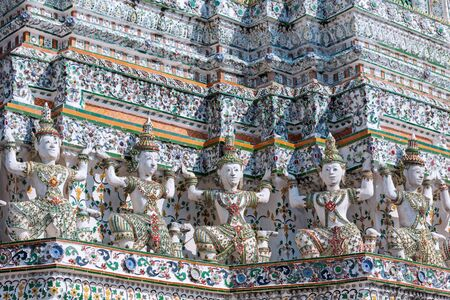 Background of Giant on pagoda at Wat Pho.