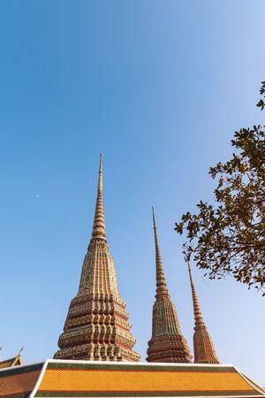 Wat Pho Buddhist temple in Bangkok Thailand.