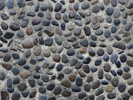 empedrado: el suelo pavimentado con adoquines de fondo