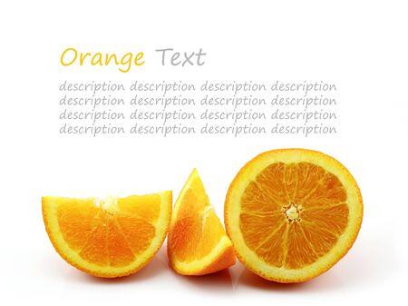 cantle: Whole orange fruit isolated on white background Stock Photo