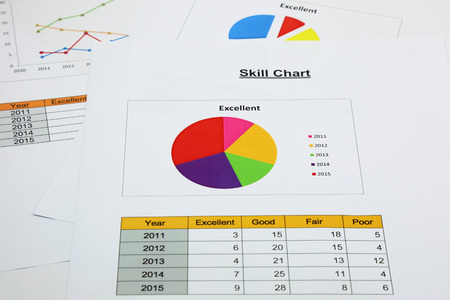 correlate: pie chart of skill in your business
