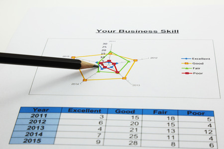 pencil point: radar chart of your business with a pencil point