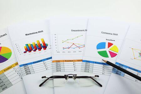 disorganized: Business analyzing chart in organization Stock Photo