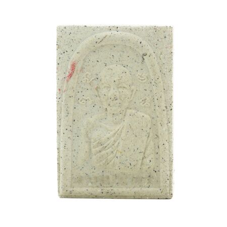 outworn: Small buddha image used as amulet Stock Photo