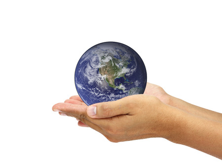 globe hand: Hands holding world. Elements of this image furnished by NASA Stock Photo